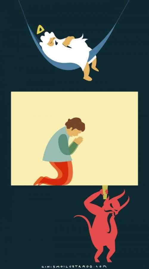 Сатирические иллюстрации о жизни (9 шт)
