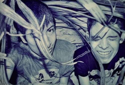 Гиперреалистичные рисунки шариковой ручкой Альфредо Чамала (16 фото)