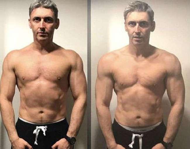 45-летний отец троих детей в течение 12 недель обрел спортивную фигуру (7 фото)