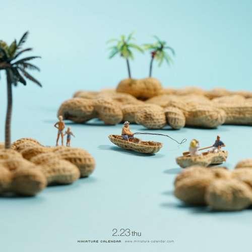 Миниатюрные диорамы художника Танаки Тацуя (24 фото)