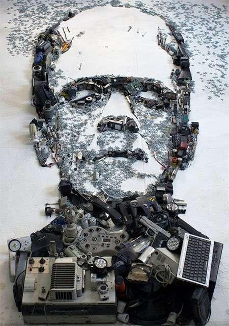 Трёхмерные портреты, созданные из повседневных вещей (13 фото)