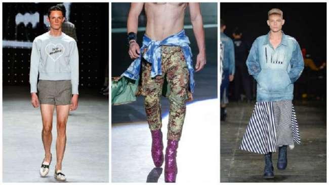 Современные дизайнеры видят мужчин на каблуках и в блестках! Закончилась неделя мужской моды. Итоги (18 фото)