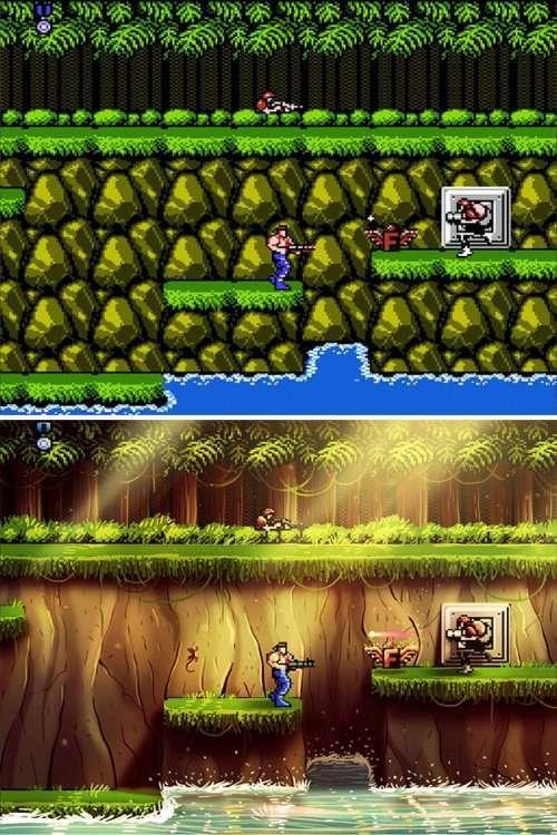 Художник преображает старые 8-битные игры, придавая им современный вид (5 фото)
