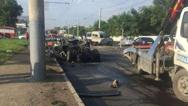 В Краснодаре пьяный сын бывшего начальника УВД Александра Семенова устроил смертельное ДТП (3 фото)