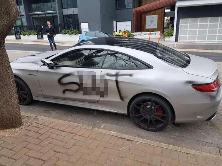 Обманутая брошенка жестоко отыгралась на дорогом Mercedes-Benz бывшего (5 фото)