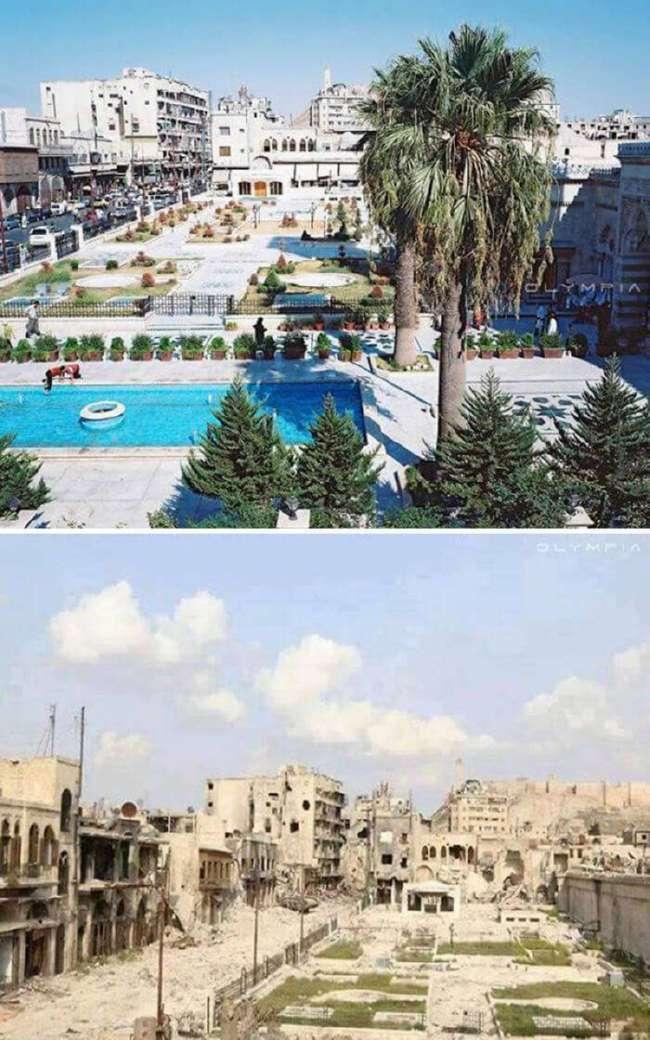 Грустные фото До и После, показывающие разрушительную силу войны