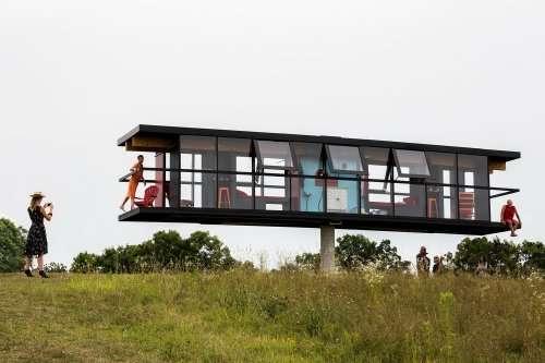 РеАктор: необычный дом, который вращается и наклоняется в зависимости от движения своих жителей (5 фото + видео)