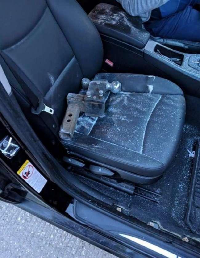 Только счастливый случай спас водителя на трассе