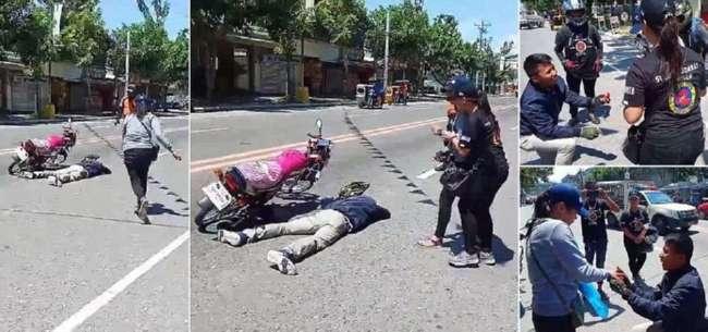 Жестокое предложение: мотоциклист притворился мертвым, чтобы попросить подругу выйти за него замуж