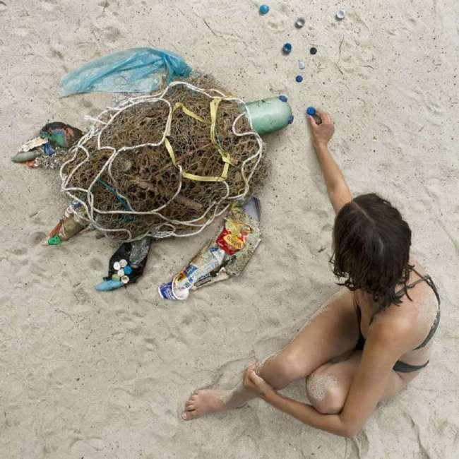 Скульптуры животных из мусора, напоминающие о проблеме загрязнения планеты