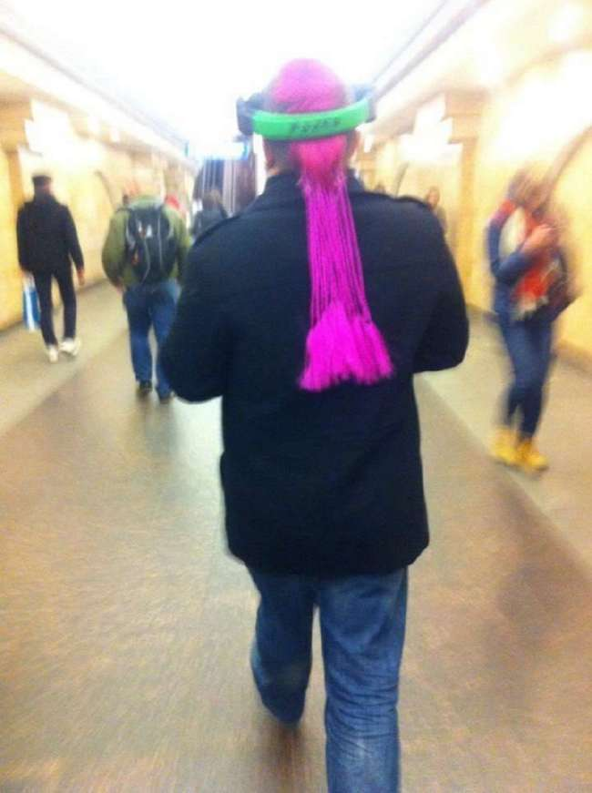 Мода российского метро: фрики из подземки. Возможно, ваши фото уже внутри!