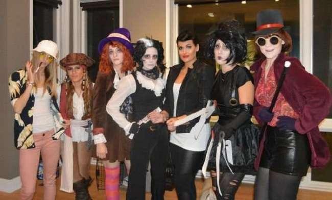 Семеро подруг переодеваются на Хэллоуин в персонажей одного и того же актера