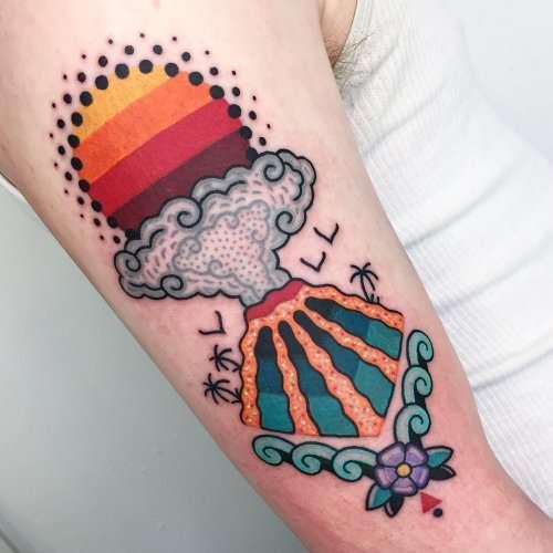 Красочные психоделические татуировки от тату-мастера Winston the Whale (11 фото)