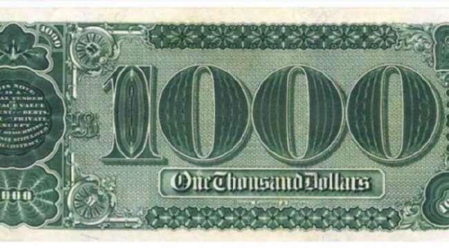 1000-долларовую банкноту продали за 2 млн.долларов (2 фото)