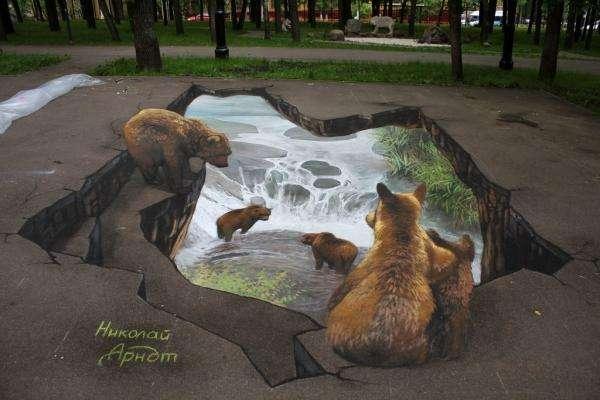 Уличные 3D-рисунки Николая Арндта (22 фото)