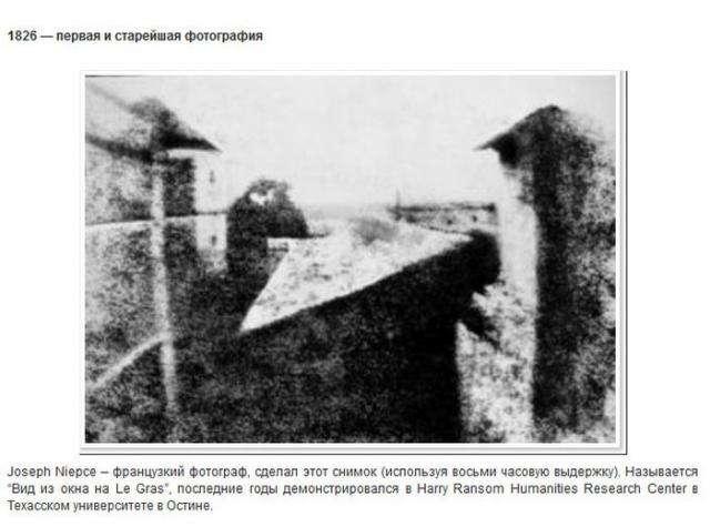 Первые фотографии в истории (9 фото)