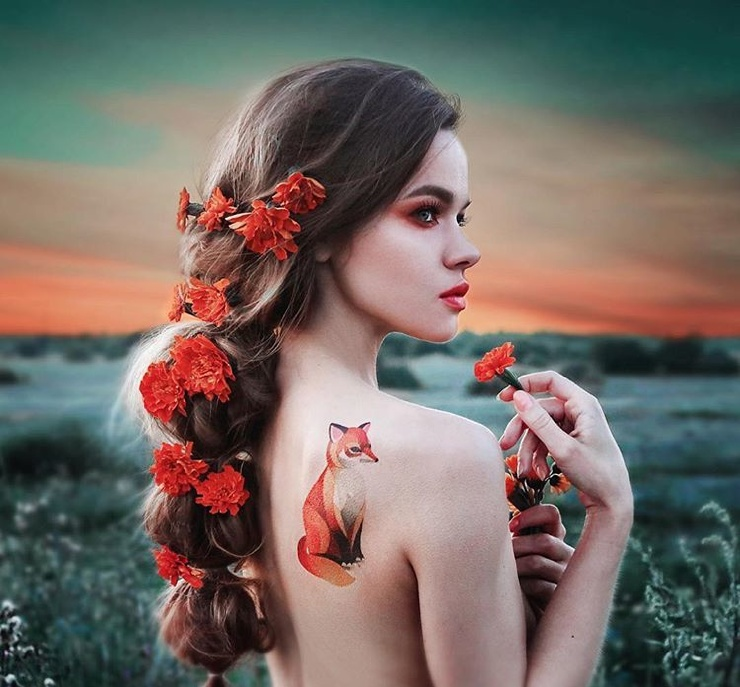 Сибирячка нарисовала переводные татуировки, которые продаются по всему миру (17 фото)