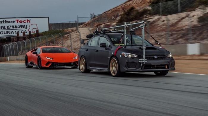 Съемочный Subaru американских журналистов (7 фото)