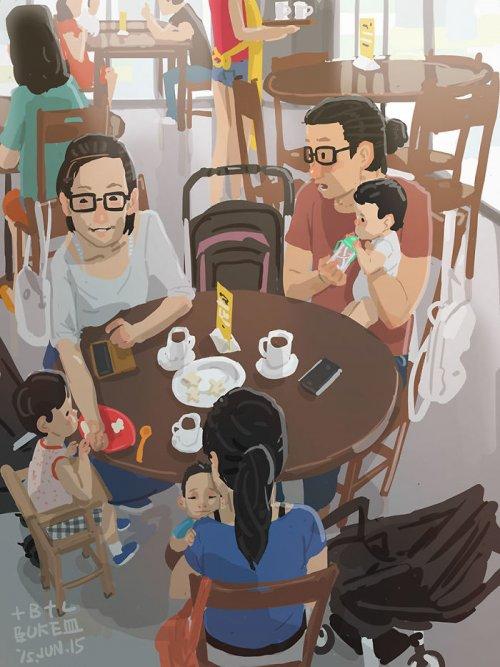 30 трогательных иллюстраций отца-одиночки о родительских буднях, которые растопят ваше сердце