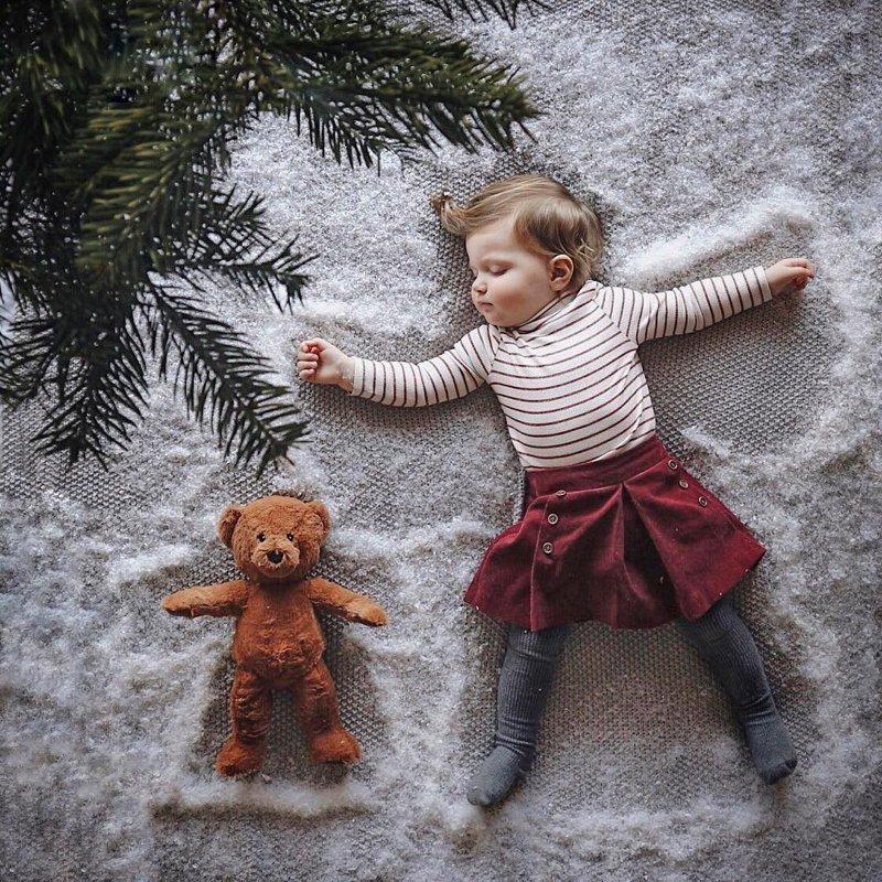 Волшебная фотосессия со спящей малышкой от креативной мамы