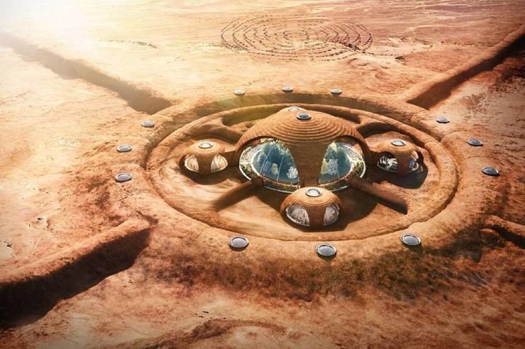 Как мы будем жить на Марсе (7 фото + видео)
