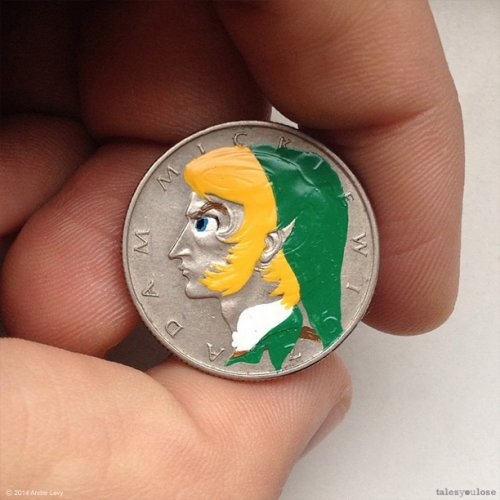 Портреты на монетах: необычный проект Андре Леви (19 фото)