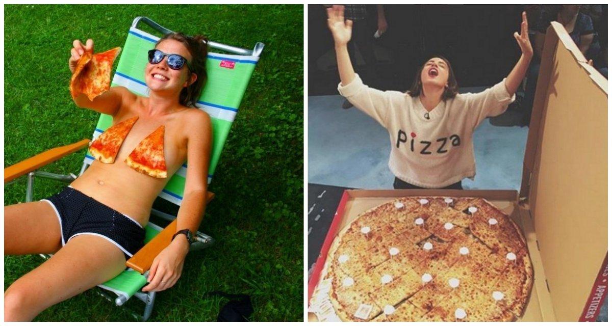 Девушки, которые без ума от пиццы
