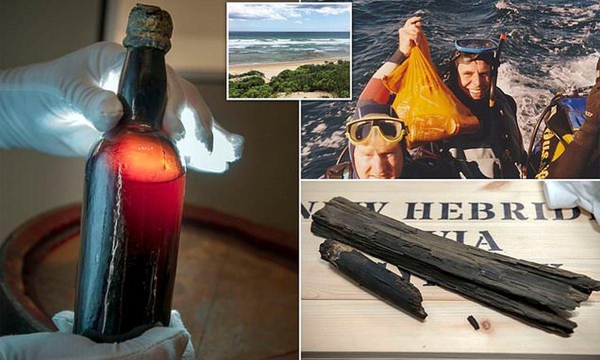 Австралийский дайвер вернул бутылку 150-летнего пива изготовителю