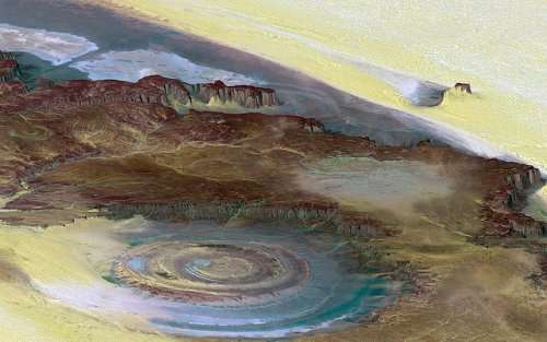 Структура Ришат — загадочное око Земли (14 фото)