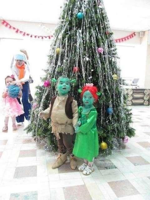 Находчивые родители наряжают детей к новогодним утренникам