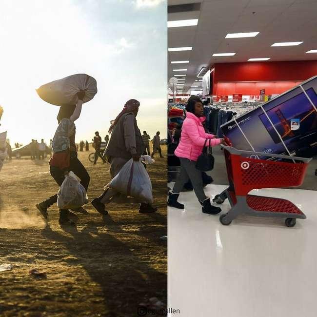Турок показал печальные контрасты двух миров, в которых мы живем