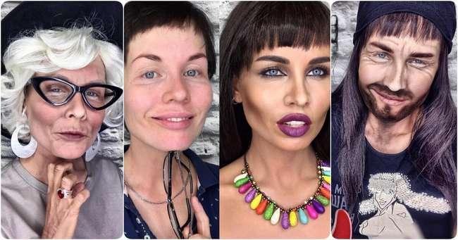 Вы все еще не верите в силу макияжа? Девушка каждую неделю перевоплощается, и это выглядит круто