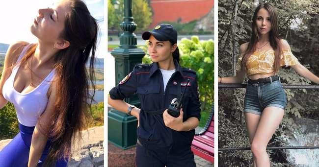 Милые сотрудницы полиции в форме и без нее