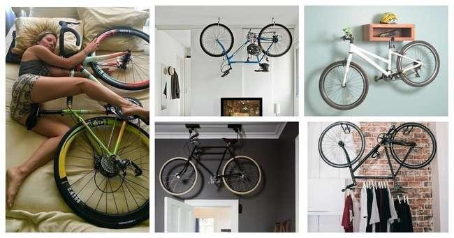 Классные идеи для хранения велосипеда