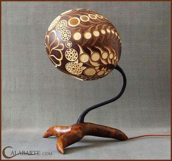 Лампы из тыквы (14 фото)