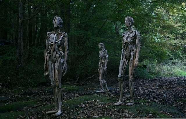 Скульптуры-призраки, животные из коряг, портреты из обломков древесины и другой эксклюзив от современных мастеров