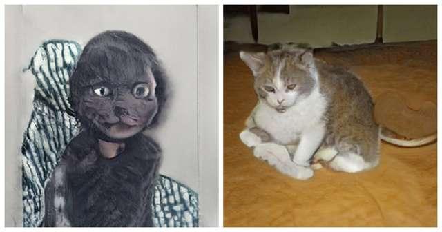 Генерация портретов котиков нейросетями пошла не по плану