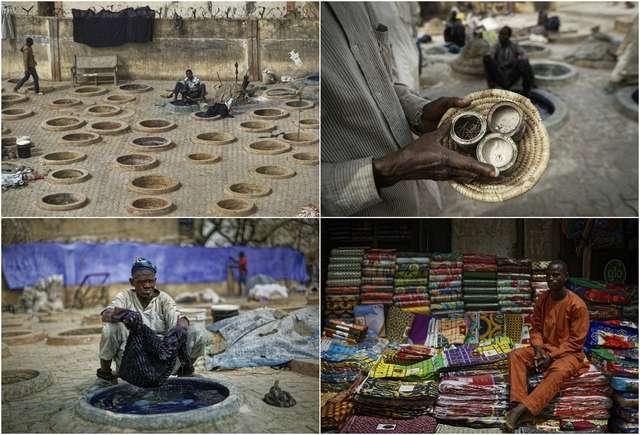 Многовековые красильные ямы в Нигерии