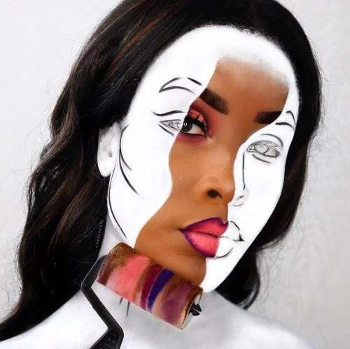 Британская визажист-самоучка рисует на своём лице сногсшибательные иллюзии (27 фото)