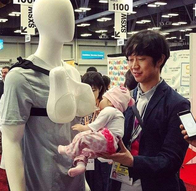Благодаря японцам теперь кормить детей грудью придется и отцам (3 фото)