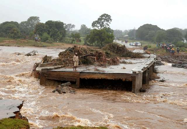Разрушительный циклон в Мозамбике