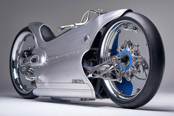 Крутой электрический мотоцикл Majestic 2029 (13 фото + 2 видео)