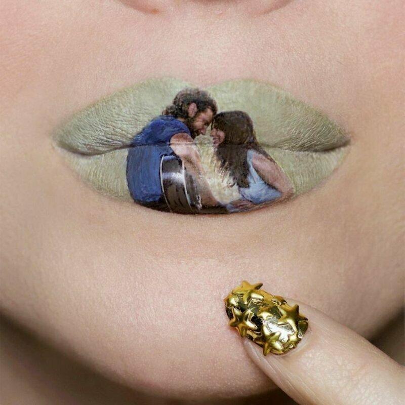 Шедевры поп-культуры на губах(30 фото)