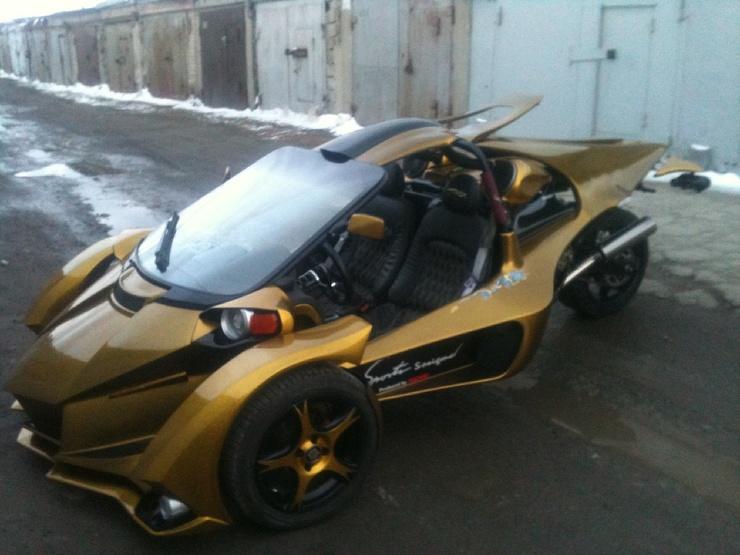 Житель Челябинска собрал в гараже спортивный трайк из водопроводных труб