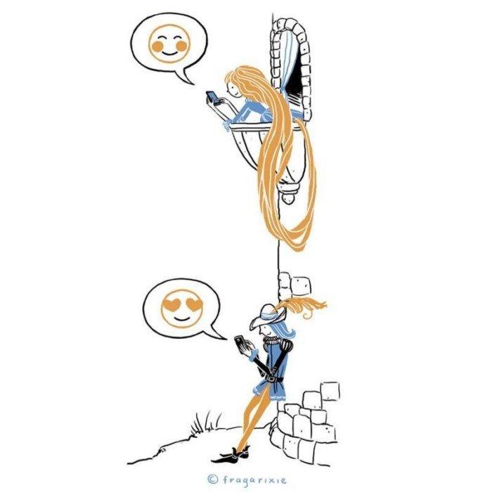 Художница из Венгрии рисует комиксы о жизни, наполненной гаджетами