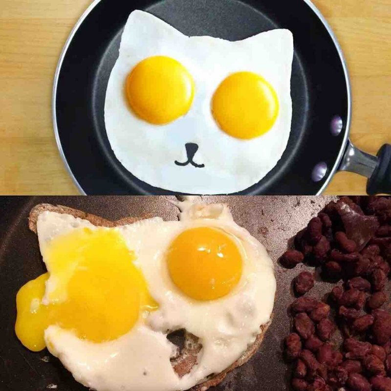 Когда готовил яичницу и что-то пошло не так(10 фото)