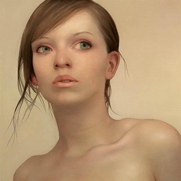 Для своих работ художник выбирает нестандартных красавиц ( 15 фото )