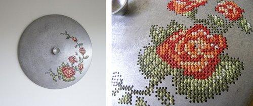 Литовская художница, которая любит вышивать по металлу (17 фото)
