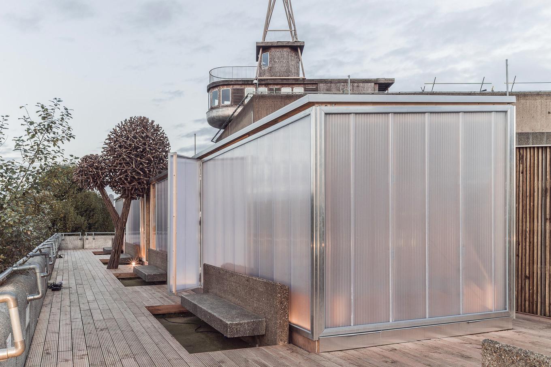 Финская сауна на крыше в Лондоне