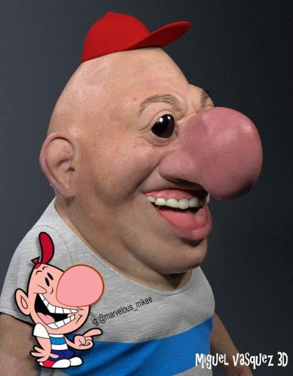 Персонажи мультфильмов, как реальные люди ( 17 фото )